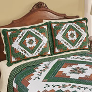 Pinecone Lodge Patchwork Pillow Sham - 45291
