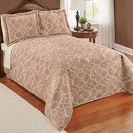 Elegant Velvet Embossed Lattice Quilt - 45301