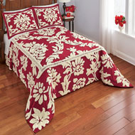 Nadia Scroll Leaf Chenille Bedspread - 45304