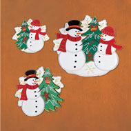 Holiday Snowman Table Linens Festive Accents - 45317