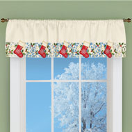 Christmas Stockings Window Valance Curtain - 45334