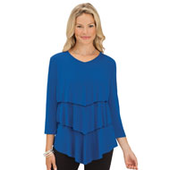 Women's Chevron Tiered Tunic Top