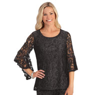 Elegant Lace & 3/4 Bell Sleeve Top