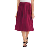 Classic Pleated Velvet Mid-Length Skirt - 45364