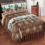 Bear Lodge Bedding Comforter Set with Pillow Shams - 45370