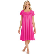 Lace Inset Tricot Nightgown - 45387