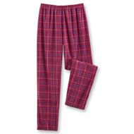 Men's Cozy Fleece Plaid PJ Pants - 45388