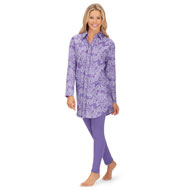 Women's Flannel Shirt and Legging Matching Set - 45391