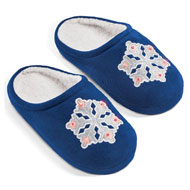 Women's Light Up Embroidered Christmas Slippers - 45436