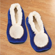 Stylish Velvet Pom Pom Fleece Lined Slippers - 45441