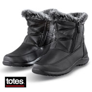 Totes Double-Zip Boots with Faux Fur Lining - 45446