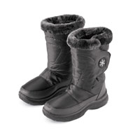 Plush Lined Snowflake Winter Boots - 45449