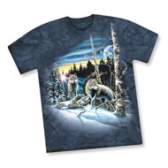Majestic Winter Wolves Tee Shirt - 45467