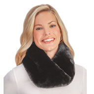 Plush Faux Fur Neck Warmer Infinity Scarf - 45478