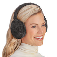 Stylish and Soft Cable Knit Faux Fur Earmuffs - 45483
