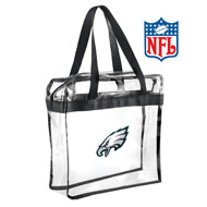 Officially Licensed NFL Football Clear Tote Bags - 45485