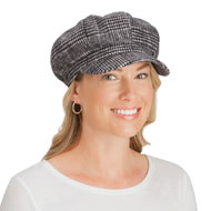 Tweed Women's Newsboy Winter Hat with Brim
