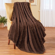 Elegant Faux Fur Throw Blanket - 45549