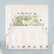 Adorable Cats Embroidered Curtains - 45552