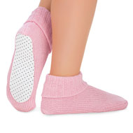 Knit Slippers Socks with Skid-Resistant Bottom - 45577
