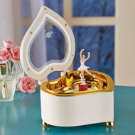 Ballerina Heart Music Box with Storage - 45581