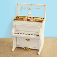 Piano Ballet Dancer Music Box with Storage - 45582