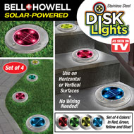 Solar Multicolor Disk Lights 4 - 45585