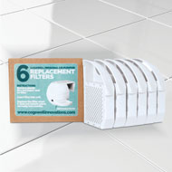 Toilet Air Purifier Replacement Filters, Pack of 6 - 45587