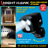Night Hawk Motion Activated Outdoor Security Light - 45622