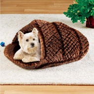Plush Slipper Snuggler Pet Bed - 45628