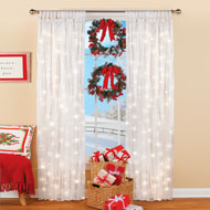 Light Up Magical Sheer Window Curtain Panel - 45655