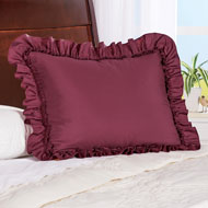 Elegant Ruffled Pillow Sham - 45664