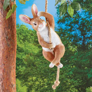 Swinging Bunny Garden Statue Decor - 45692