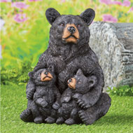 Mama Bear and Cubs Yard Figurine