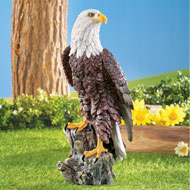 Magnificent Bald Eagle on Stump Garden Statue - 45707