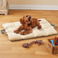 Plush Dog Travel Mat with Elastic Straps - 45759