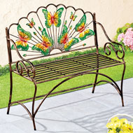 Colorful Butterfly Gardens Bench - 45814