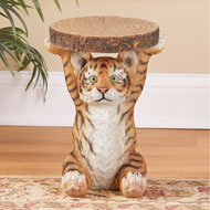 Tiger Cub Faux Log Accent Table - 45818