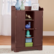 Dark Wood Storage Cabinet and Display Center - 45826