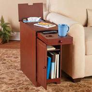 Wood Multi-Use Side Table with Flip Top and Drawer - 45829