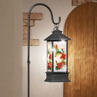 Solar Glittered Lantern with Hook