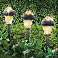 Sparkling Solar Stake Light with Cap - Set 3 - 45872