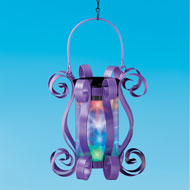 Colorful Solar Hanging Lantern with Scrolling Design - 45876