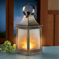 Antique Bronze-Finished LED Lighted Lantern - 45892