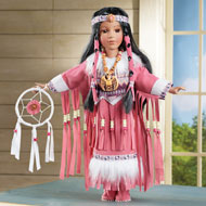 Elu Native American Porcelain Doll - 45903