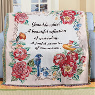 Beautiful Granddaughter Tapestry Throw Blanket - 45912