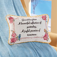 Beautiful Granddaughter Tapestry Throw Pillow - 45913