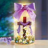 Easter Cross & Lillies Mason Jar Table Decoration - 45925