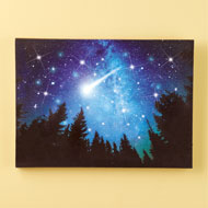 Lighted Shooting Star Canvas Wall Art - 45937