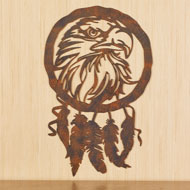 Eagle Dreamcatcher Silhouette Metal Wall Art - 45968